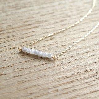 Rough Diamond bar necklace