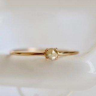 Skinny Ring - Natural Diamond K18 -GrayishYellow