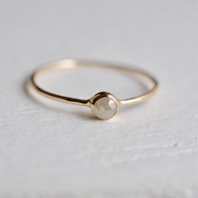 ローズカットナチュラルダイヤモンド - Natural Diamond  -beige