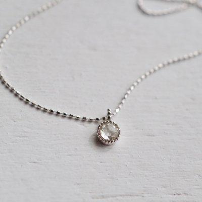 Rosecut Diamond necklace K18
