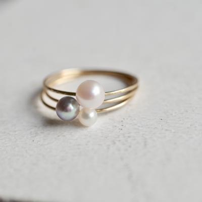 パールリング トリニティ Trinity pearl ring