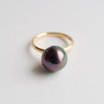 パールリング 南洋黒蝶 Tahitian Pearl ring