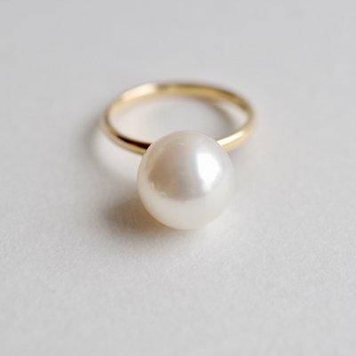 パールリング 南洋白蝶 South Sea Pearl white ring