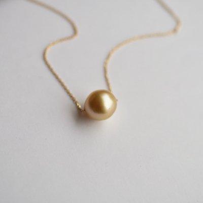 ゴールデンパールネックレス South Sea Pearl necklace  t01