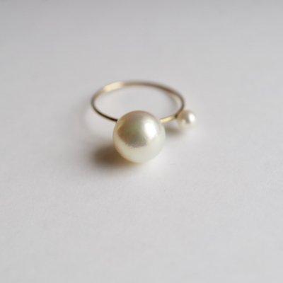 アコヤパールリング ツイン Akoya baroque pearl Forged ring sa