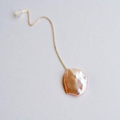 ロングピアス クレオ(片耳用)_Creo sakura pearl long pierce