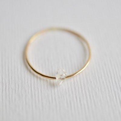 ハーキマーダイヤモンド リング S Moving Ring Herkimer Diamond