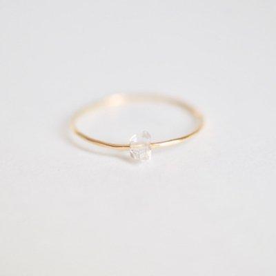 ハーキマーダイヤモンド リング   Herkimer Diamond Moving Ring