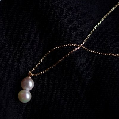 ツインアコヤパールネックレス Twin Akoya Pearl Natural necklace