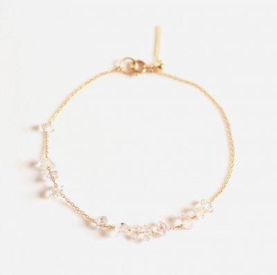 K10 ハーキマーダイヤモンド ブレスレットYG Harkimer diamond bracelet