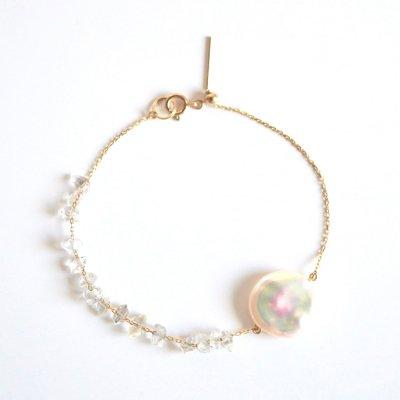 K10 クレオパール&ハーキマーダイヤモンド ブレスレット Creo&Harkimer diamond bracelet