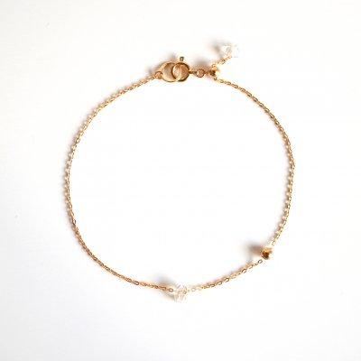 K18 ワン ハーキマーダイヤモンド ブレスレット One Harkimer diamond bracelet