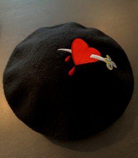 Dagger Heart Beret Hat