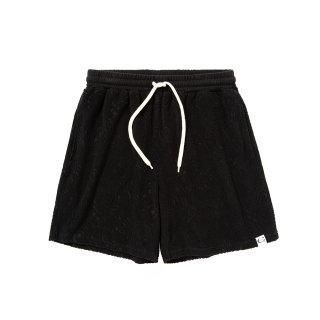 Spiral pattern pile jacquard short pants - 21SS056