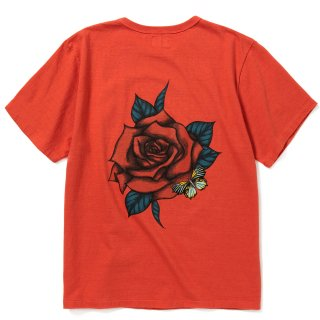 <img class='new_mark_img1' src='https://img.shop-pro.jp/img/new/icons14.gif' style='border:none;display:inline;margin:0px;padding:0px;width:auto;' />Binder neck rose vintage t-shirt - 21SS002M