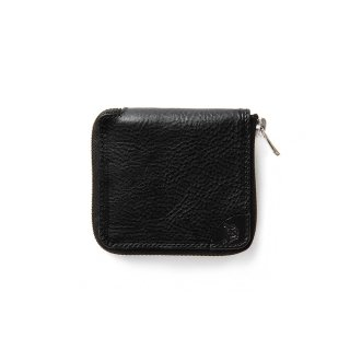 Logo embossing leather round zip short wallet - 21SS009L&A-L