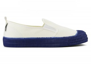 SLIP-ON COLOR SOLE 10WHITE / NAVY