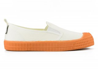 SLIP-ON COLOR SOLE 10WHITE / ORANGE