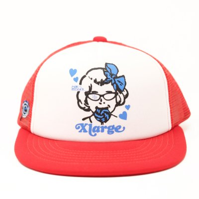 <img class='new_mark_img1' src='https://img.shop-pro.jp/img/new/icons5.gif' style='border:none;display:inline;margin:0px;padding:0px;width:auto;' />XLARGE® [LOLIPOP MESH TRUCKER CAP] (RED)