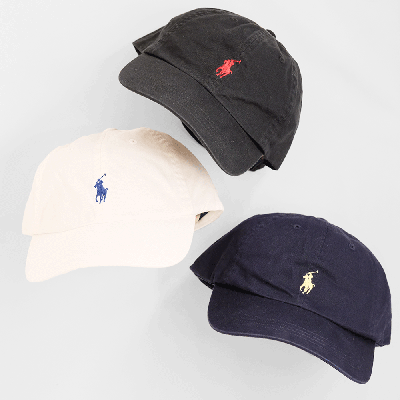 <img class='new_mark_img1' src='https://img.shop-pro.jp/img/new/icons5.gif' style='border:none;display:inline;margin:0px;padding:0px;width:auto;' />POLO RALPH LAUREN [COTTON CLASSIC HAT] (3 COLORS)