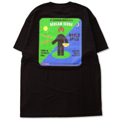 BEDLAM [SEEDS TEE] (BLACK)