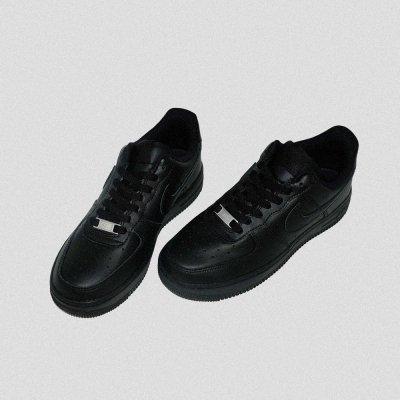 NIKE [WMNS AIR FORCE 1 '07 315115-038] (TRIPLE BLACK)