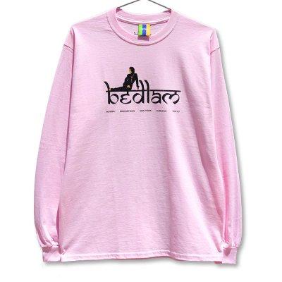 BEDLAM [RIHLAX L/S TEE] (PINK)