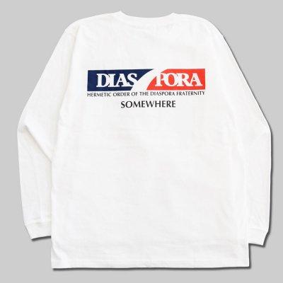 DIASPORA SKATEBOARDS [SCOTCH L/S TEE] (WHITE)