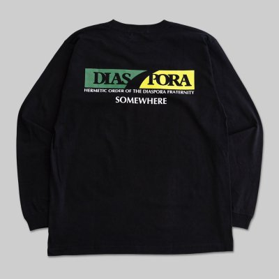 DIASPORA SKATEBOARDS [SCOTCH L/S TEE] (BLACK)