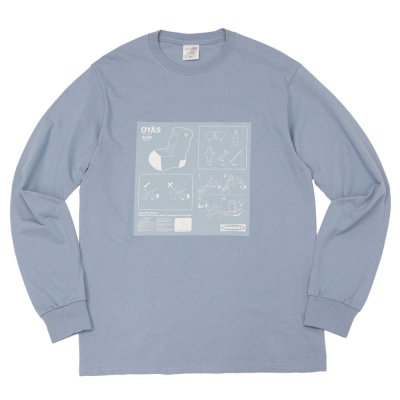 WHIMSY [OYAS L/S TEE] (STONE WASHED BLUE)