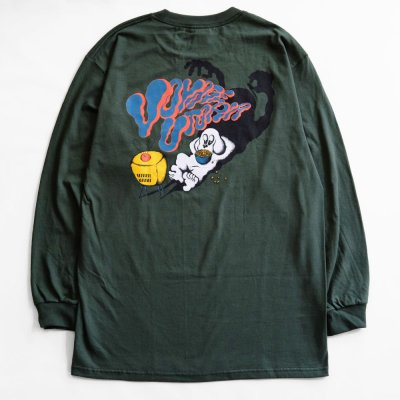VOYAGE [DOG L/S TEE] (FOREST GREEN)