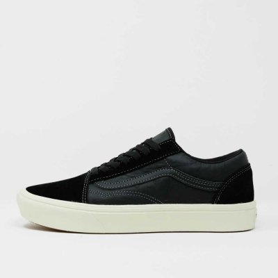 VANS [COMFYCUSH OLD SKOOL VN0A3WMA2QF] (SUEDE/OSTRICH) BLACK