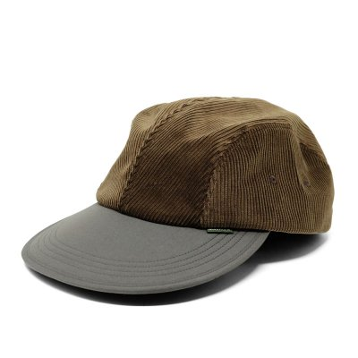 DIASPORA SKATEBOARDS [BITTER CORDS SOFT VISOR CAP](BROWN)