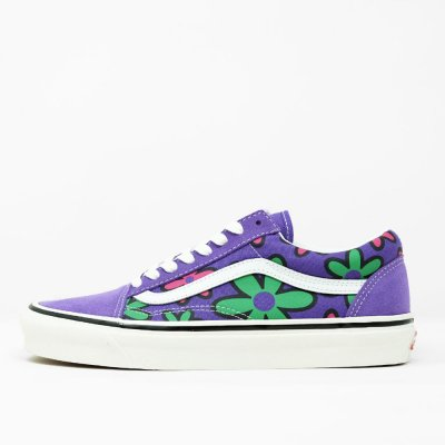 VANS [OLD SKOOL 36DX VN0A38G22T7] (ANAHEIM FACTORY) OG BRIGHT PURPLE FLOWER