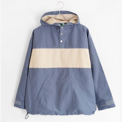 VOYAGE [ x AUTUMN LEAVES 60/40 PULLOVER JACKET] (NAVY/SAND)