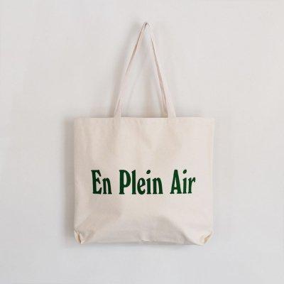 EN PLEIN AIR [CORE LOGO JUMBO TOTE BAG] (NATURAL)