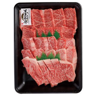 【6】上焼肉盛り合わせ(上赤身、上カルビ、上ロース)500g