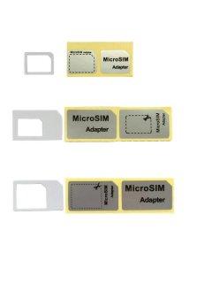(色は選べません)黒、白NanoSIM MicroSIM SIM 変換アダプタ 3点セット