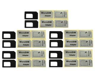黒 Nano SIM→標準SIM変換  SIM 変換アダプタ 10個セット