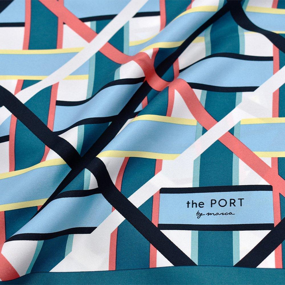LATTICE GEO(CGP-045) 【the PORT by marca】大判 シルクツイル スカーフの画像5