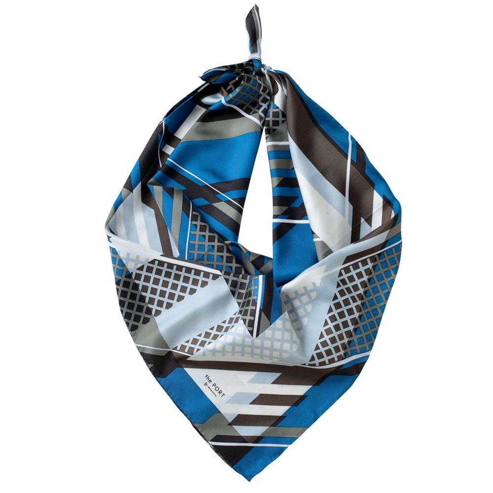 OVERLAP GEO(CGP-138) 【the PORT by marca】大判 シルクツイル スカーフの画像8