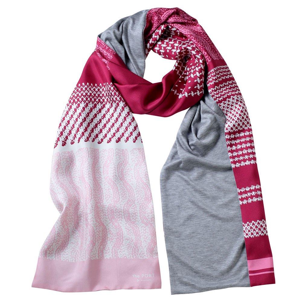 Knitting Fabric(NGP-131) 【the PORT by marca】 シルクツイル+ジャージー袋合わせ ナロースカーフの画像1
