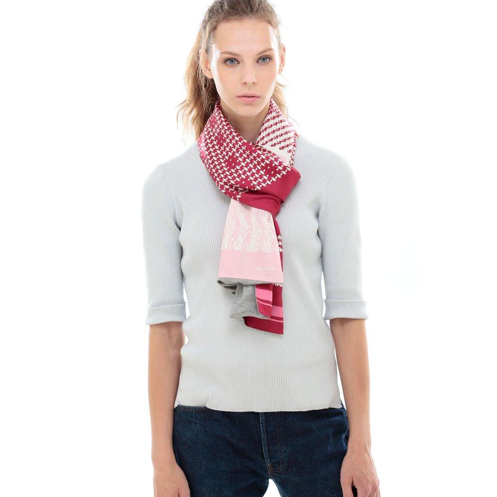 Knitting Fabric(NGP-131) 【the PORT by marca】 シルクツイル+ジャージー袋合わせ ナロースカーフの画像3