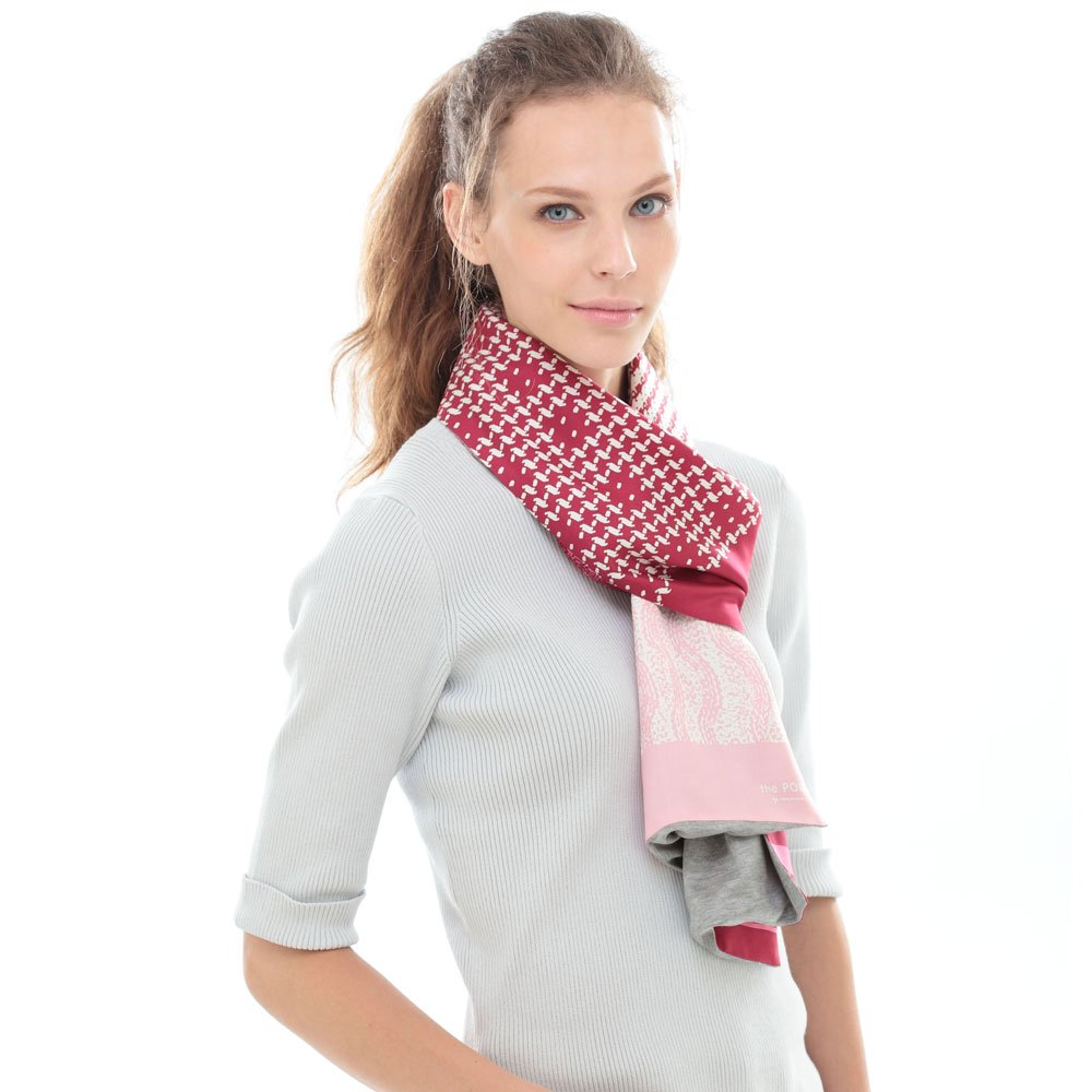 Knitting Fabric(NGP-131) 【the PORT by marca】 シルクツイル+ジャージー袋合わせ ナロースカーフの画像5