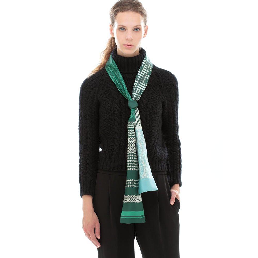 Knitting Fabric(NGP-131N) 【the PORT by marca】 シルクツイル ナロースカーフの画像11
