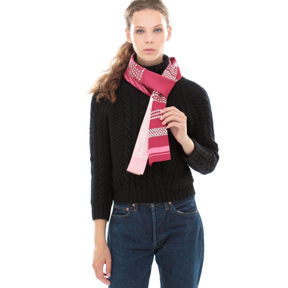 Knitting Fabric(NGP-131N) 【the PORT by marca】 シルクツイル ナロースカーフの画像8