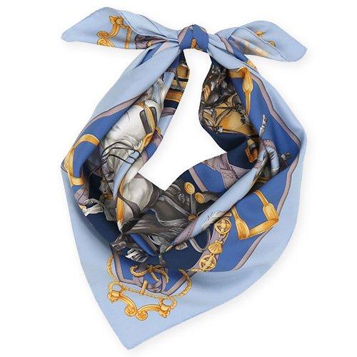 HORSE(CM9-340) 伝統横濱スカーフ 大判 シルクツイル スカーフ
