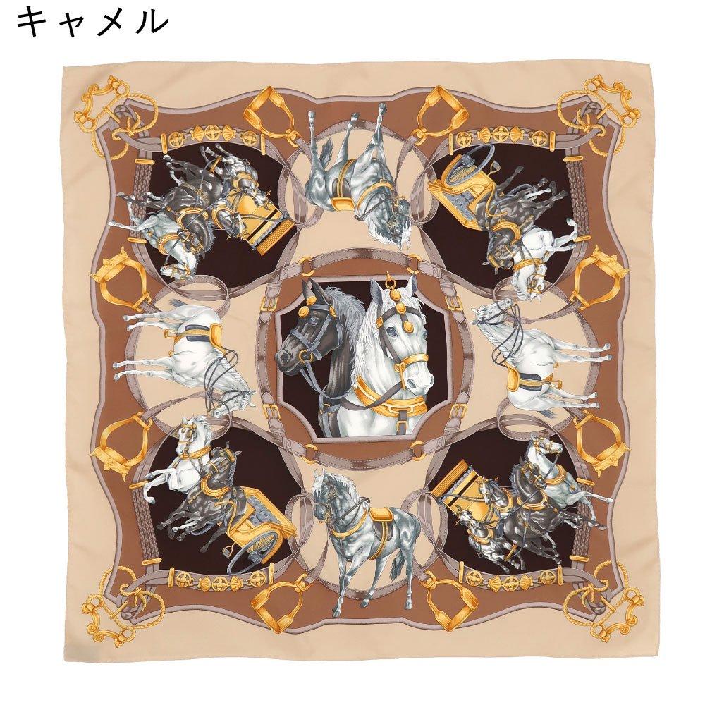 HORSE(CM9-340) 伝統横濱スカーフ 大判 シルクツイル スカーフの画像10