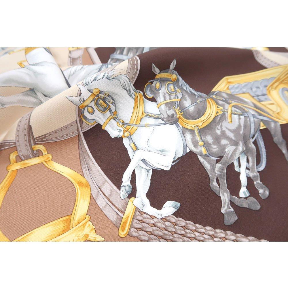 HORSE(CM9-340) 伝統横濱スカーフ 大判 シルクツイル スカーフの画像13