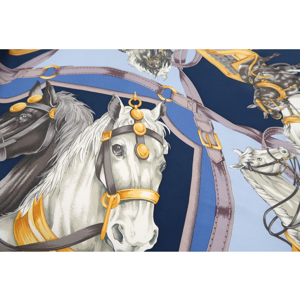 HORSE(CM9-340) 伝統横濱スカーフ 大判 シルクツイル スカーフの画像14